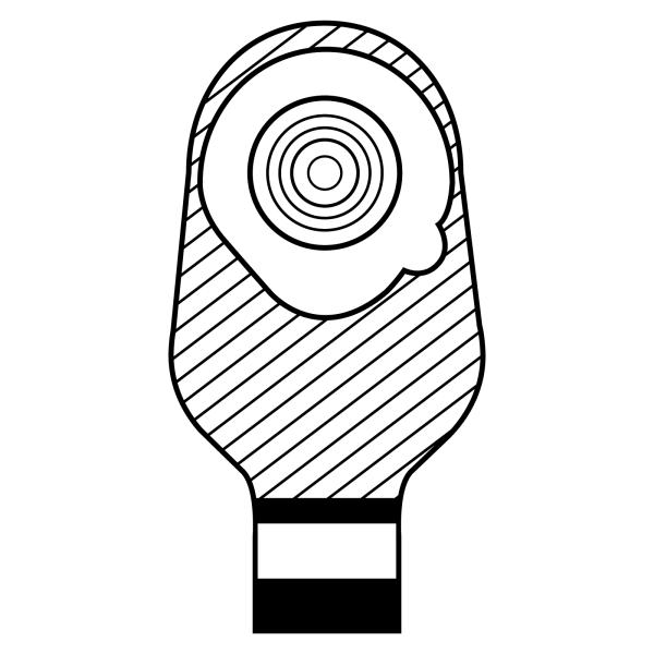 Stomocur® Ileostomiebeutel Protect Alginat IPA Piktogramm