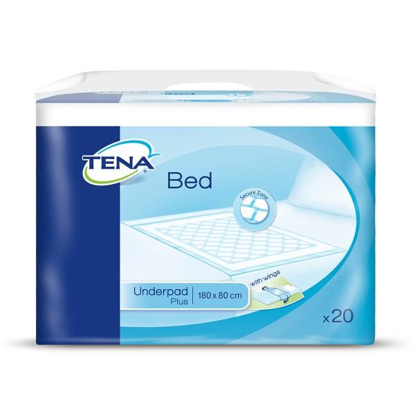 Tena Bed Plus Wings Bettschutzunterlagen 180 × 80 cm Verpackung
