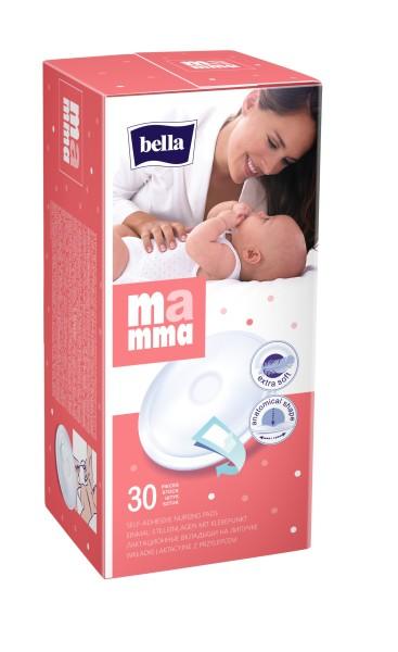 Bella Mamma Einmal-Stilleinlagen mit Klebepunkt 30 Stück Verpackung