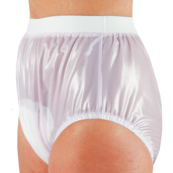 Suprima PVC-Slip 1214 weiß Schutzhose Damen Herren angezogen