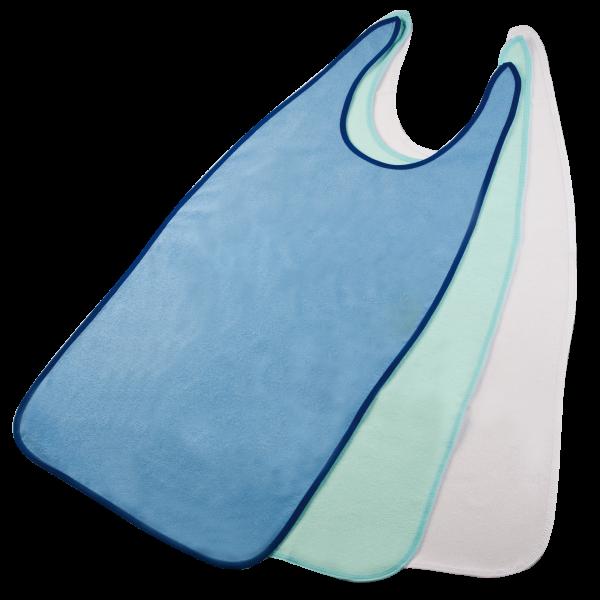 Suprima Ess-Schürze Frottee 5004 hell-blau mint weiß Ansicht