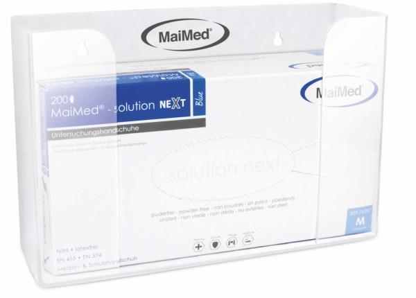 MaiMed® Wandhalterung Acryl 1-fach mit Box Ansicht