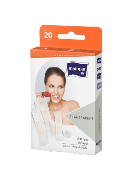 Matopat Wundpflaster-Set transparent Pflaster 20 Stück Verpackung