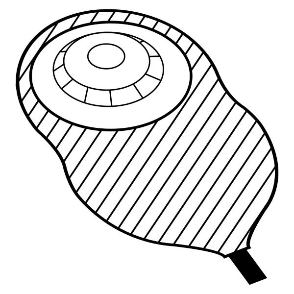 Stomocur® Urostomiebeutel Safe konvex USH10V3F Piktogramm